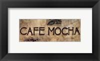 Framed Cafe Mocha