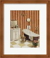 Framed Salle De Bain Rouge II
