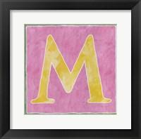 Framed M - Pink Background