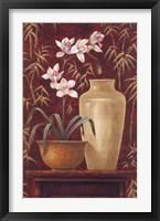 Framed Orchid In Raku Bowl