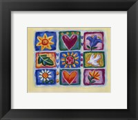 Framed Hearts And Flowers IV
