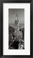New York, New York, Chrysler Building at Night Framed Print