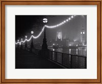 Framed River Thames by Night