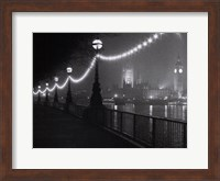 Framed River Thames by Night