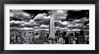 Framed New York, New York, Clouds Over Manhattan