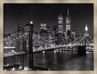 Framed New York, New York, Brooklyn Bridge