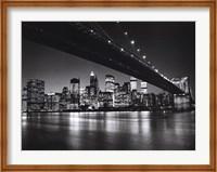 Framed New York, New York, Manhattan Skyline