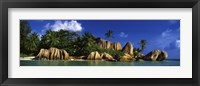 Framed La Digue Island, Seychelles, Indian Ocean
