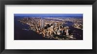 Framed Aerial View of Manhattan