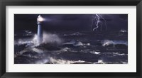 Framed Lightning at the Lighthouse