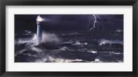 Framed Lightning at the Lighthouse
