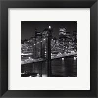 Framed New York, New York, Brooklyn Bridge