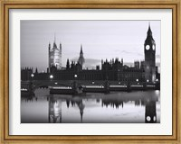 Framed Big Ben and the Houses of Parliament