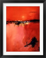 Framed Orange Horizon