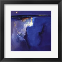 Violet Horizon - square Framed Print