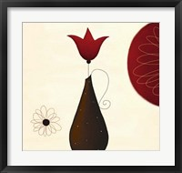 Framed Single Red Tulip