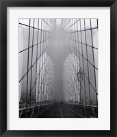 Framed Foggy Day on Brooklyn Bridge