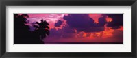 Sunset in the Maldives, North Indian Ocean Framed Print