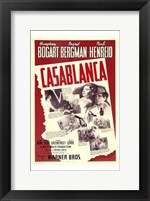 Framed Casablanca Red