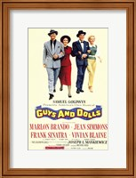 Framed Guys and Dolls Brando Simmons Sinatra Blaine