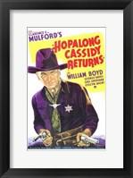 Framed Hopalong Cassidy Returns