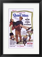 Framed Quiet Man Wayne Carrying O'Hara