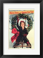 Framed Shirley Temple Christmas Greeting