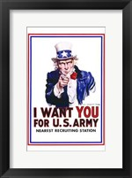 Framed I Want You for Us Army