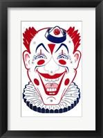 Framed Clown Face