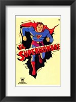 Framed Superman Vintage