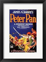Framed Peter Pan by James M. Barrie (book cover)