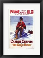 Framed Gold Rush Charlie Chaplin