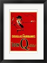 Framed Don Q Son of Zorro Red With Douglas Fairbanks