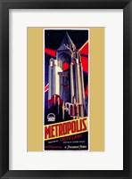 Framed Metropolis Art Deco