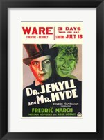 Framed Dr Jekyll and Mr Hyde Theatre