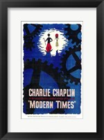 Framed Modern Times Charlie Chaplin Cartoon