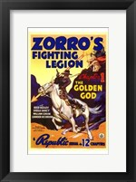 Framed Zorro's Fighting Legion