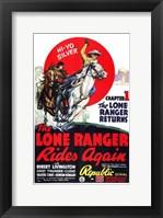 Framed Lone Ranger Rides Again Robert Livingston