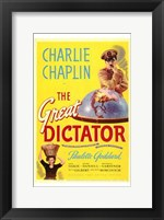 Framed Great Dictator - Charlie Chaplin