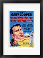 Framed Pride of the Yankees - Gary Cooper