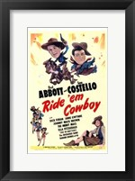 Framed Abbott and Costello, Ride 'Em Cowboy, c.1942
