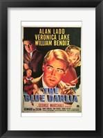 Framed Blue Dahlia