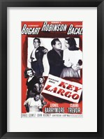 Framed Key Largo Black and Red