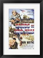 Framed Sands of Iwo Jima - American flag