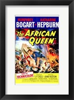 Framed African Queen S.P. Eagle & John Huston