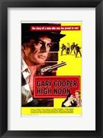Framed High Noon Cowboy Duel