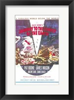 Framed Journey to the Center of the Earth - vintage