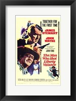 Framed Man Who Shot Liberty Valance