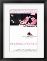 Framed Bonnie and Clyde Beatty Dunaway