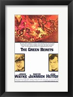 Framed Green Berets